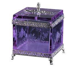Accesorii ALSADESIGN-GD colectia CIULLI Puccini cutie ornamentala cristal2108 ax
