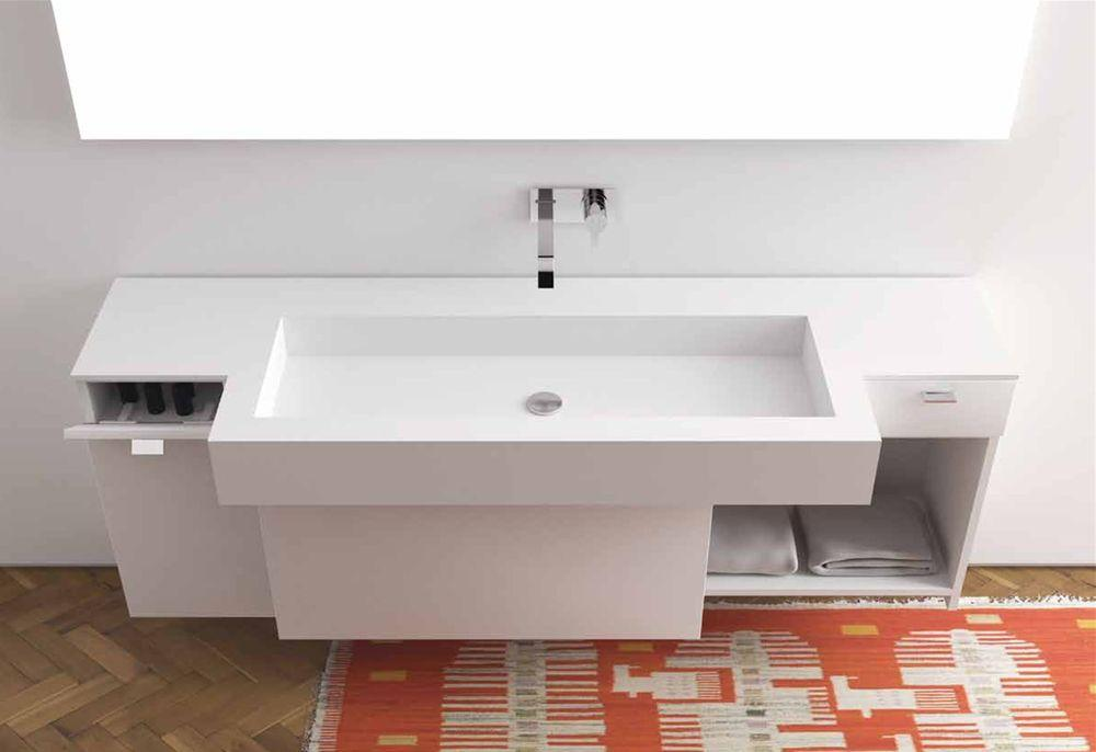 Mobilier baie moma design model wood basin slide bathroom for Moma design collection